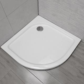 00001550 Piatto Doccia in Resina 90x90cm Semicircolare Reversibile + Piletta