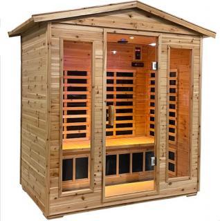 00004705 Sauna Infrarossi Finlandese Ortisei da Esterno 180x120 cm